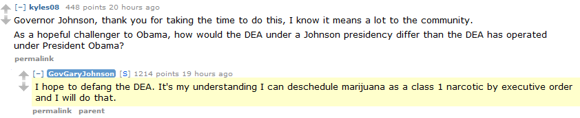 Gary Johnson on the Drug War