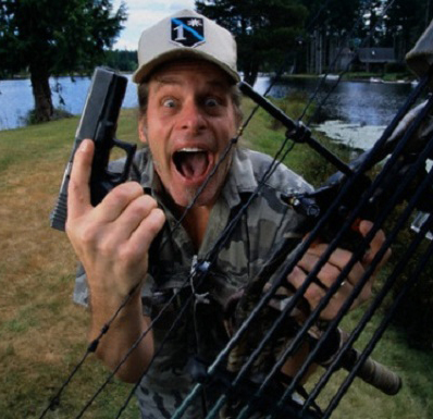 Crazy Ted Nugent with a Gun