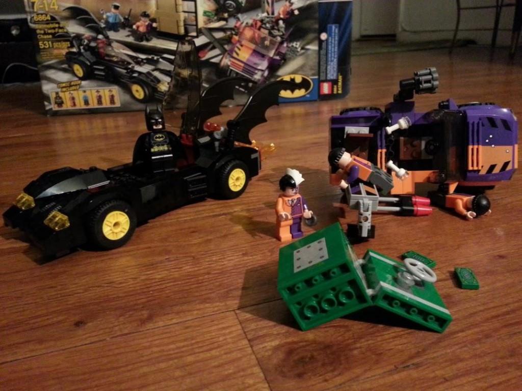 LEGO Batman stops bank robbery