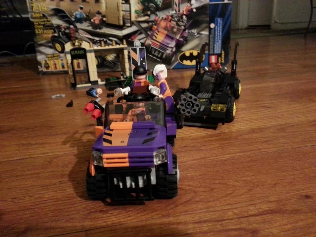 LEGO Batmobile pursues Two-Face