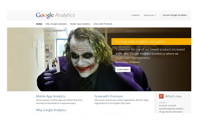 Joker Google Analytics