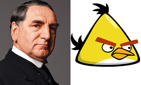 Mr. Carson and Yellow Angry Bird