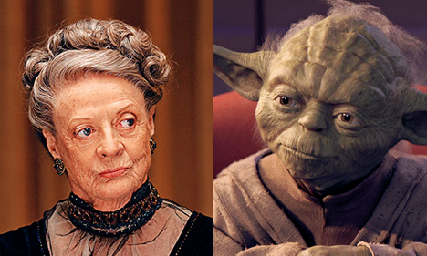 Dowager Countess and Yoda