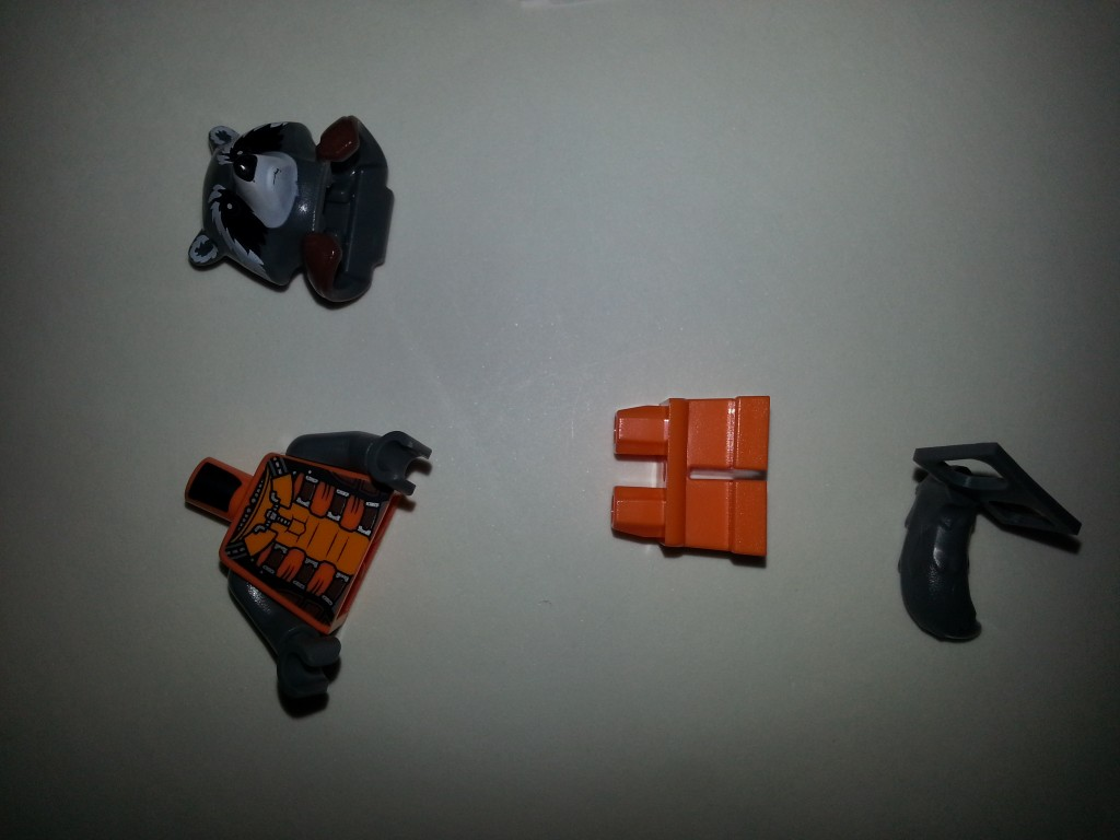 Rocket Racoon LEGO Pieces