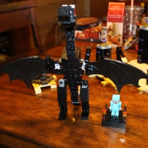 LEGO Ender Dragon and Steve Scale