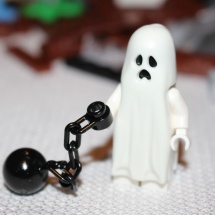 LEGO Ghost on Ball and Chain