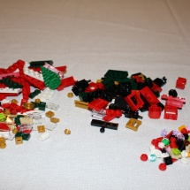 LEGO Christmas Train Pieces