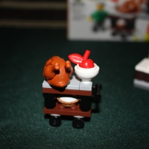 LEGO Thanksgiving Feast Turkey Cart