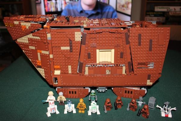 Finished LEGO Sandcrawler