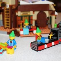 Elves Building Christmas Toys