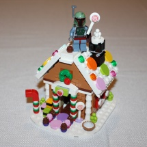 Boba Fett on LEGO Gingerbread House
