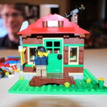 LEGO Lakeside Lodge Telescope Waving