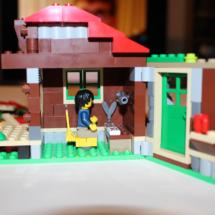 LEGO Lakeside Lodge Writing Cabin Inside