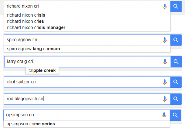 Google Criminal Suggestions